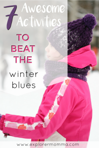 Kids' winter activities pin