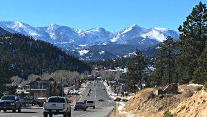 View of Estes Park, Colorado