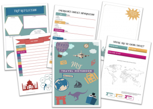 Travel Journal preview for kids' carry on