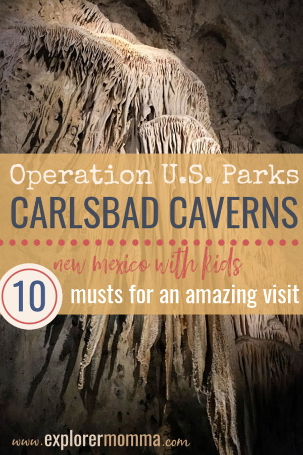 Visit Carlsbad Caverns with kids for an awe inspiring experience. Operation U.S. Parks #familytravel #carlsbadcaverns