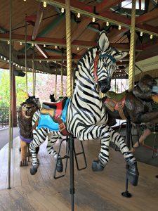 Zoo carousel zebra