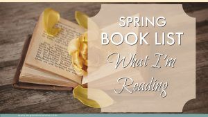 Spring book list book with a flower. What to read next. Book suggestions. #readingchallenge #booklist