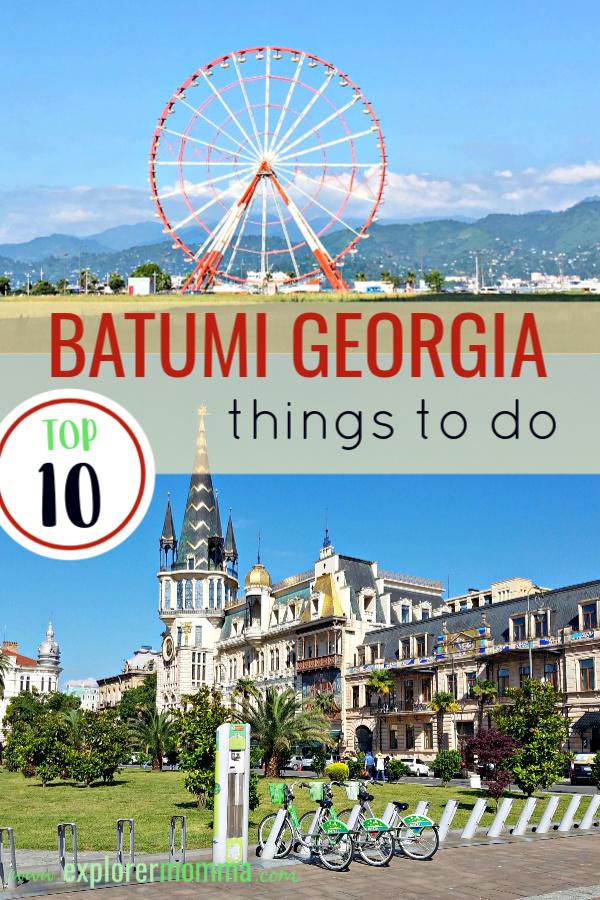 Batumi Georgia | Things to do with kids on the beautiful Black Sea. #batumigeorgia #georgiatravel