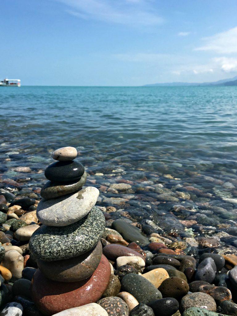 Batumi rock beach