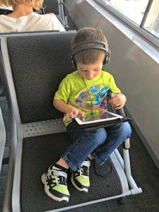 Long layover with kids and iPad