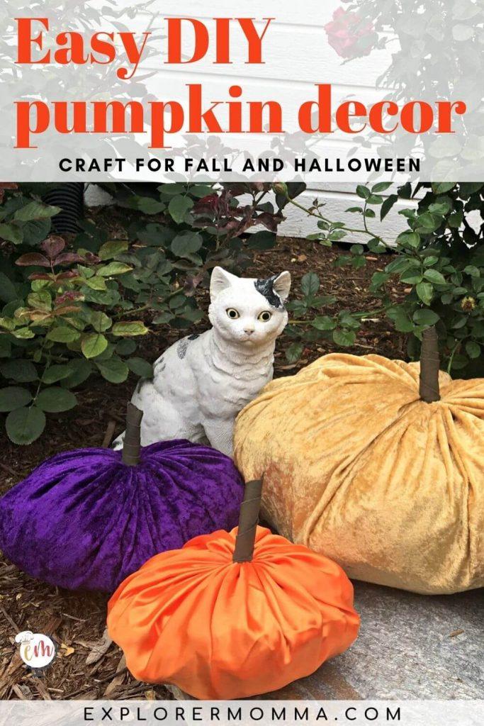 DIY Pumpkin Decor Craft for fall