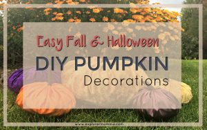 Easy DIY Pumpkin decor feature