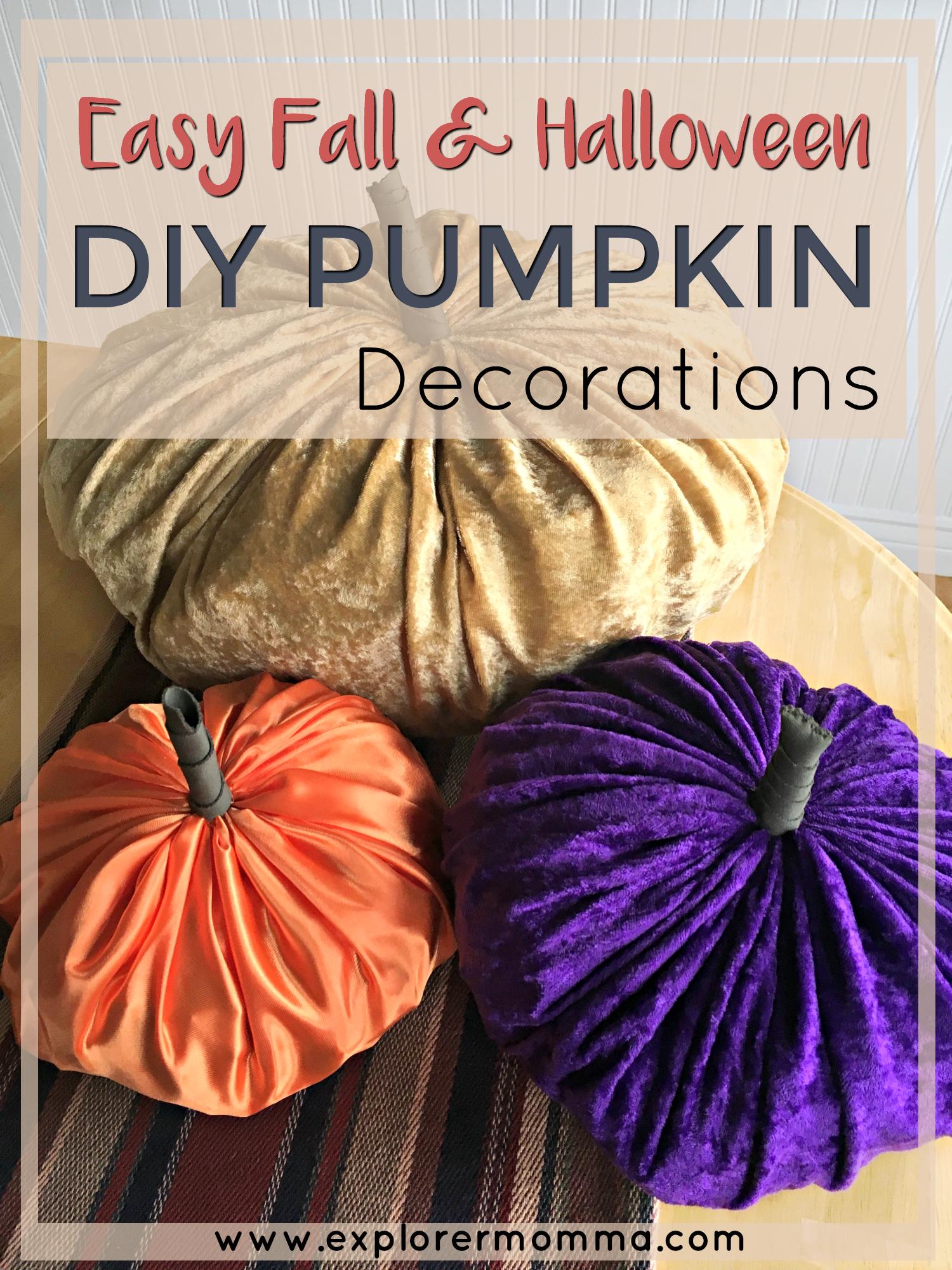 Easy DIY Pumpkin Decor pin