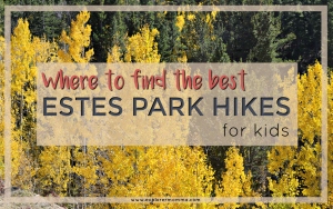 Estes Park hikes for kids, mountain with golden aspens