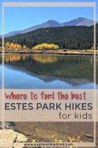 Estes Park hikes for kids pin-