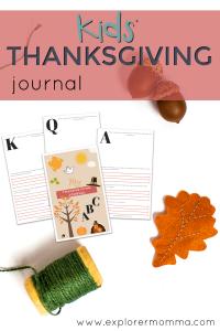 Kids' Thanksgiving Journal pin