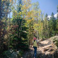 Girl hiking near Estes Park Colorado