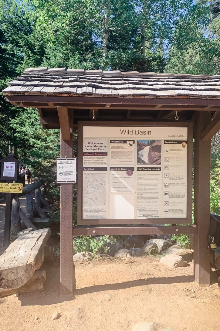 Wild Basin trailhead sign