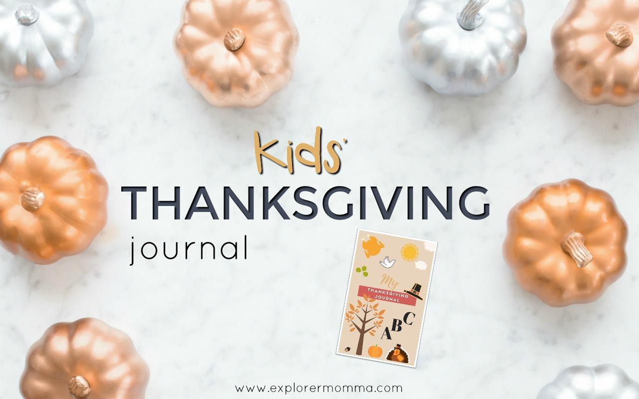 Kids' Thanksgiving Journal feature