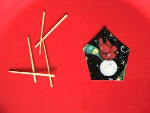 Kids' DIY Christmas Tree Ornament, card cutout