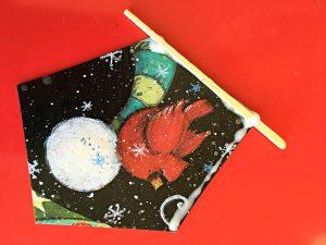 Kids' DIY Christmas Tree Ornament toothpicks start