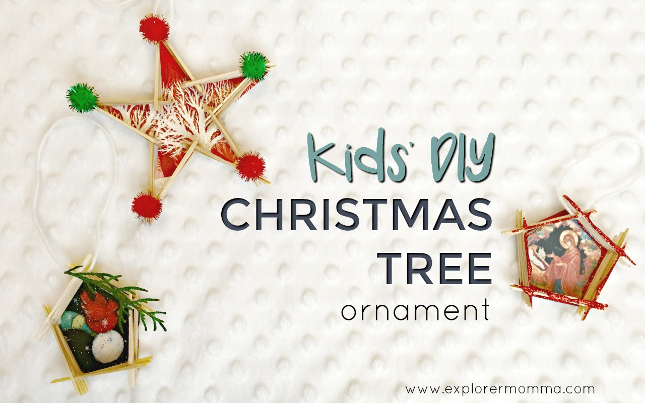Kids' DIY Christmas tree ornament feature