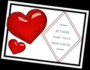 Individual Valentine card