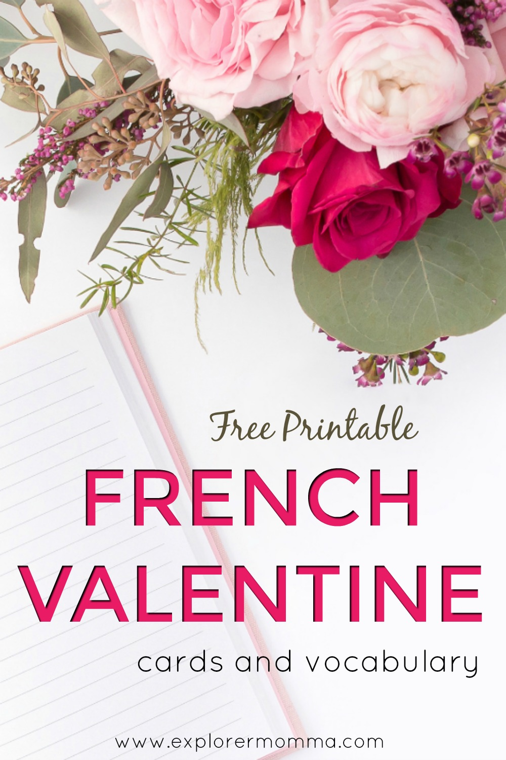 Printable French Valentine Cards pin