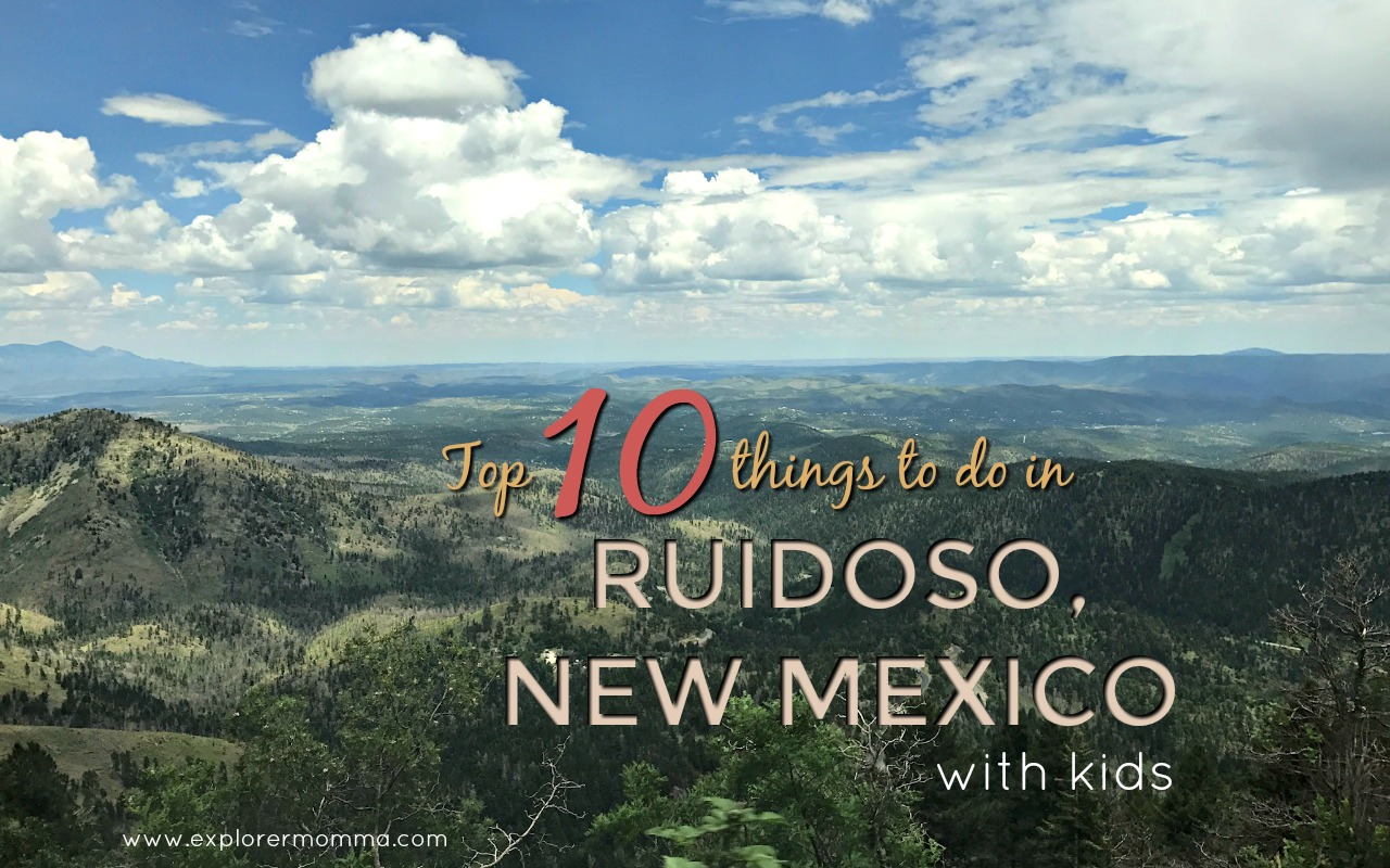 Top 10 Things to do in Ruidoso, New Mexico with kids, fun activities and more! #familytravel #ruidoso