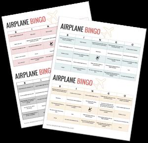 Airplane BINGO, kids airplane activities preview