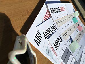 Airplane BINGO, kids airplane activities printable close-up