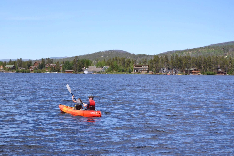 Kayaking on Grand Lake, Colorado #grandlake #coloradotravel