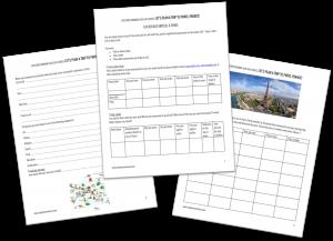 Let's Plan a Trip to Paris printable preview