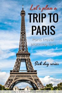Let's plan a trip to Paris, Eiffel Tower pin