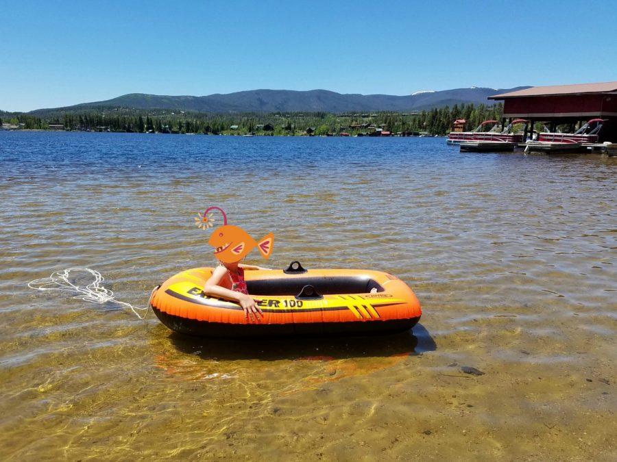Swimming in Grand Lake Colorado