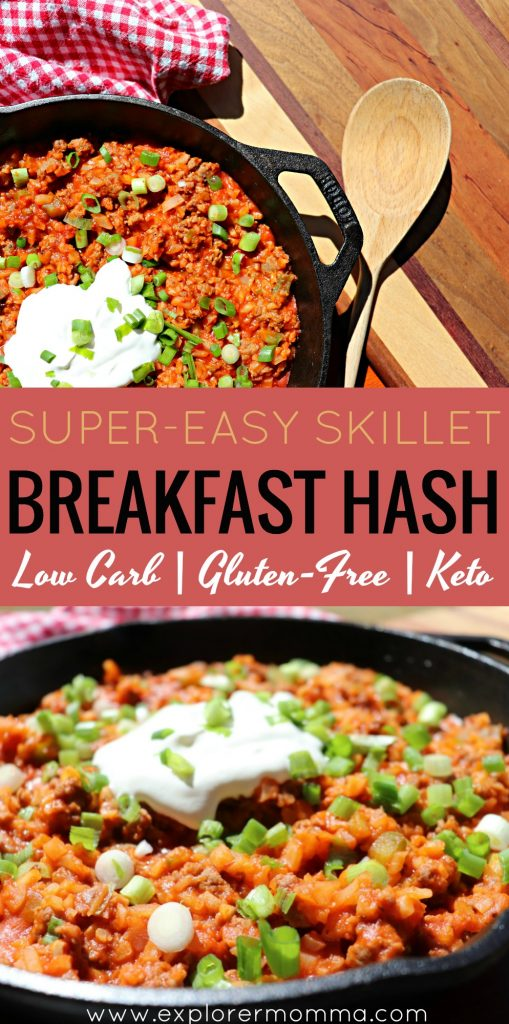 Super easy low carb skillet breakfast hash