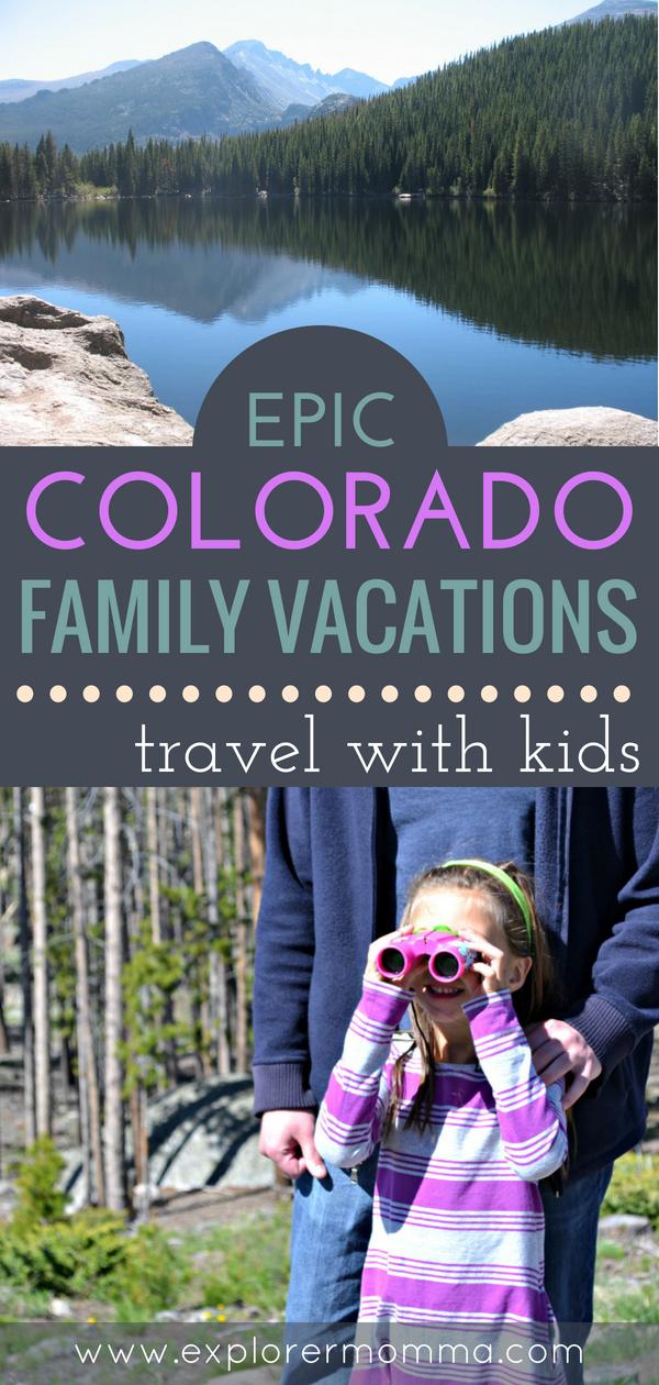 Colorado family vacations pin