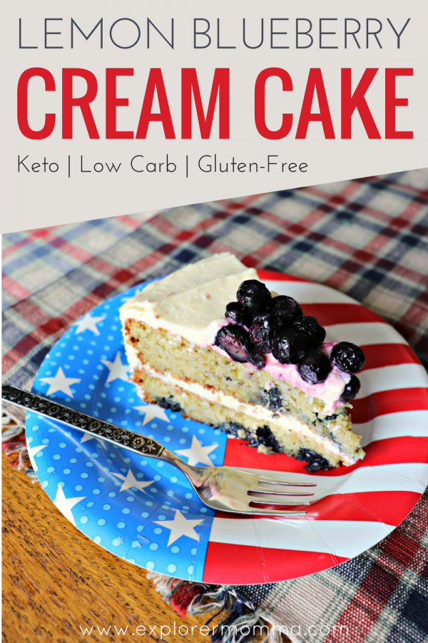 Lemon Blueberry Cream Cake pin