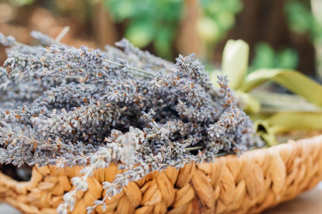 DIY essential oil travel roller, lavender