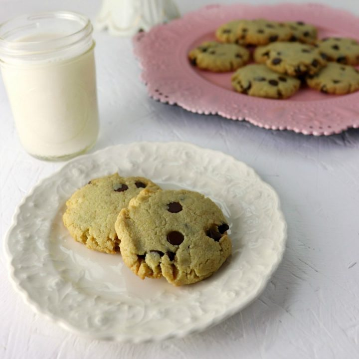 Best keto chocolate chip cookies, square