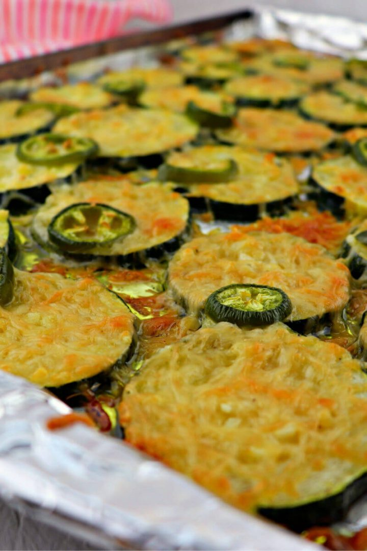 Low carb keto garlic parmesan zucchini