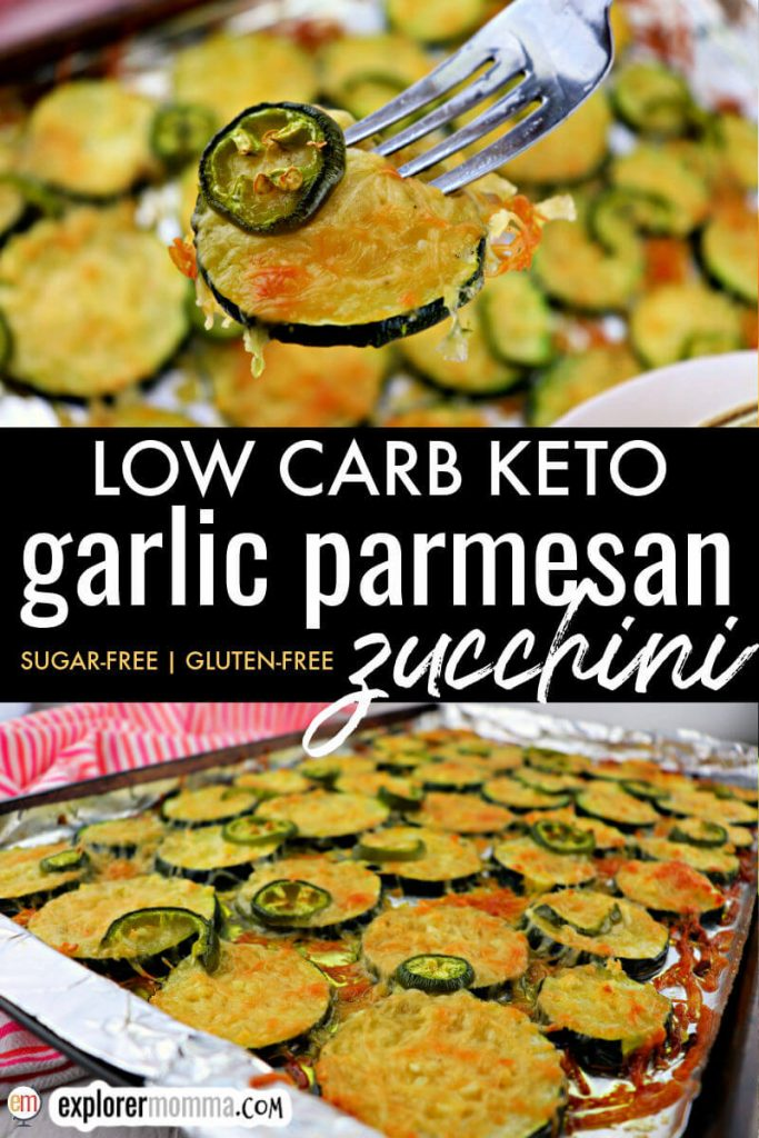 Low carb garlic parmesan zucchini