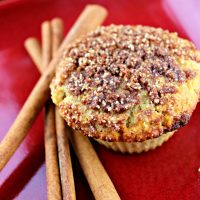 Low Carb Coffee Cake Muffin on a plate
