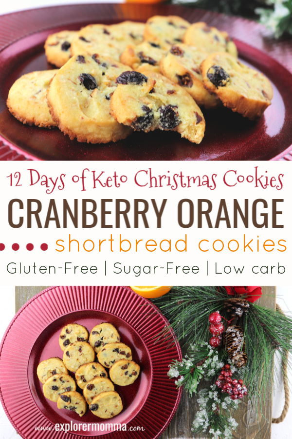 Keto cranberry orange shortbread cookies are sheer low carb Christmas perfection. Packed with orange, almond, and cranberry flavors, they're a surefire keto diet winner. #ketocookies #lowcarbrecipes