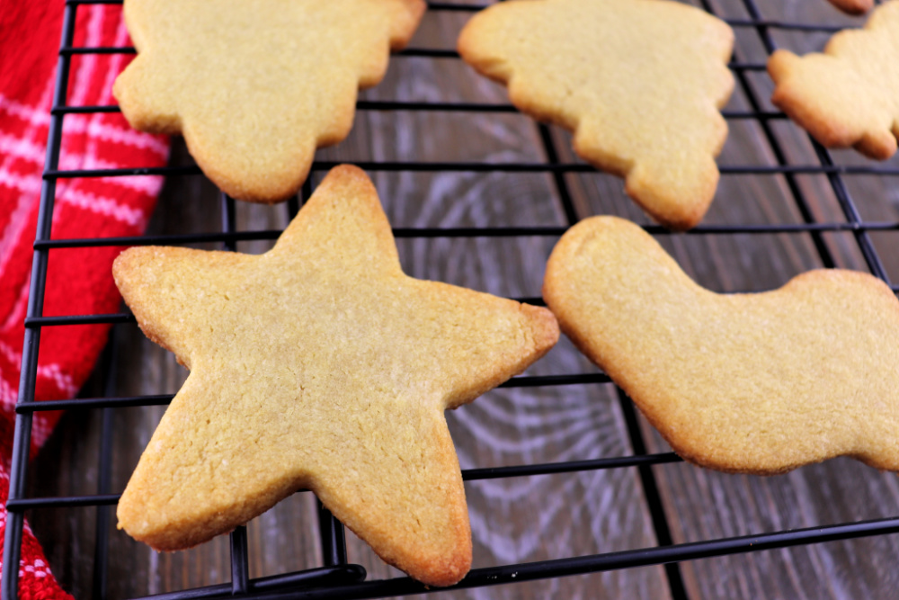 Keto Cut Out Sugar Cookies closeup