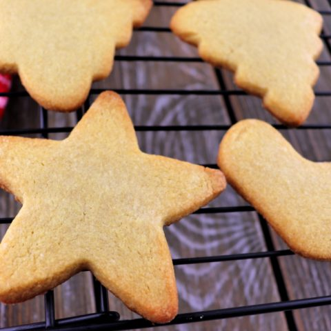 Keto Cut Out Cookies without frosting. Super-fun to make with kids and have a party decorating. #ketocookies #lowcarbcookies