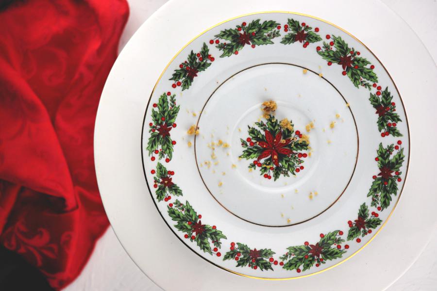 Christmas plate of crumbs