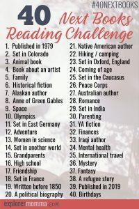40 Next Books Reading Challenge booklist #40nextbooks #2019booklist