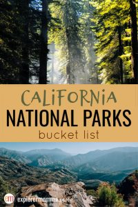 California National Parks Bucket List | Tips for family travel to Yosemite, Joshua Tree, Redwood National Park, and more. #nationalparks #familytravel