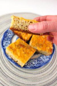 A piece of delicious low carb cheddar bread. #ketorecipes #lowcarbdiet