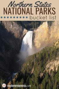 Northern States National Parks amaze and delight kids and adults alike. Family travel to Yellowstone, Katmai National Park, and more! #familytravel #usparks