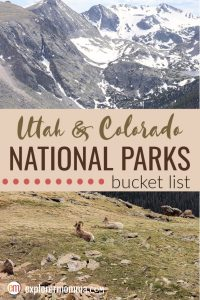 Utah and Colorado National Parks | Family Adventure Travel bucket list. Zion National Park to Rocky Mountain National Park and more! #rockymountainnationalpark #familytravel