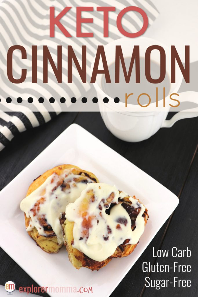 The BEST Keto Cinnamon Rolls. A low carb cinnamon and cream cheese party in your mouth. Gluten-free, sugar-free and better than the original. #lowcarbbreakfast #lowcarbrecipes