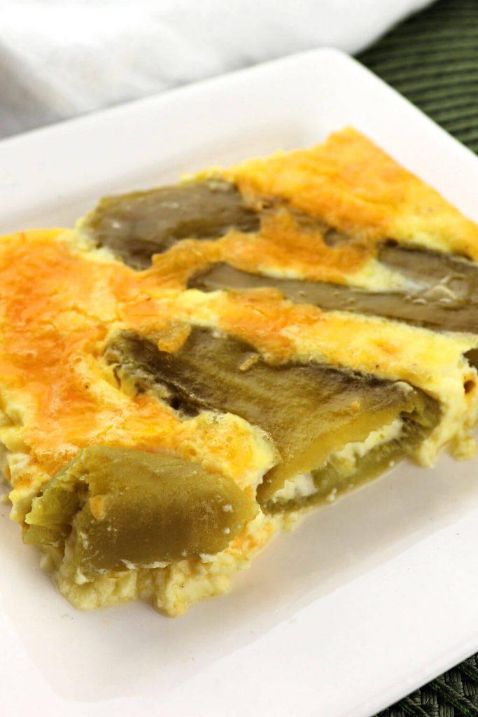 Piece of keto breakfast casserole