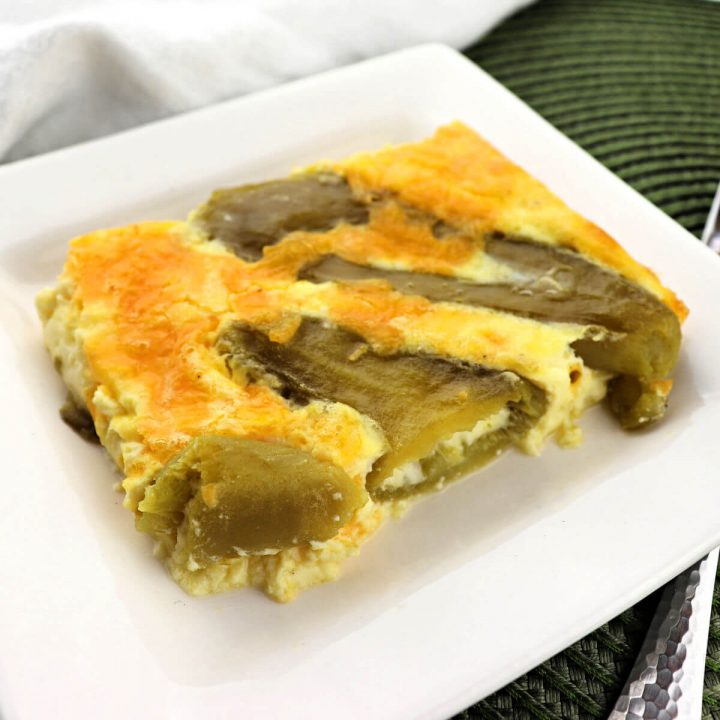 Keto Breakfast Casserole, Chiles Rellenos is the perfect special low carb breakfast. Perfect for brunches, Mother's Day, or any occasion. #ketobreakfast #ketobrunch
